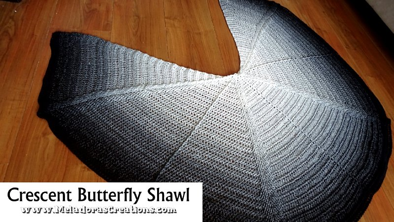 Crescent Butterfly Shawl - Free Crochet Pattern and Crochet Shawl Tutorial