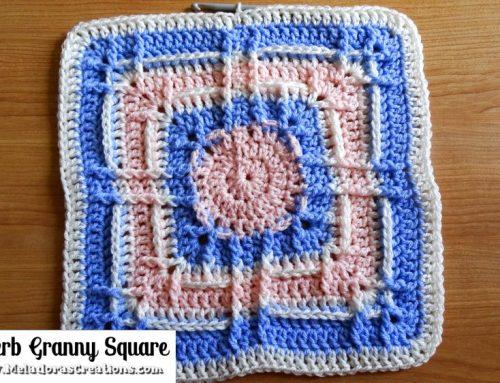 Reverb Granny Square – 12 inch Granny Square – Free Crochet pattern