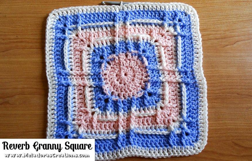Reverb Granny Square – 12 inch Granny Square - Free Crochet pattern