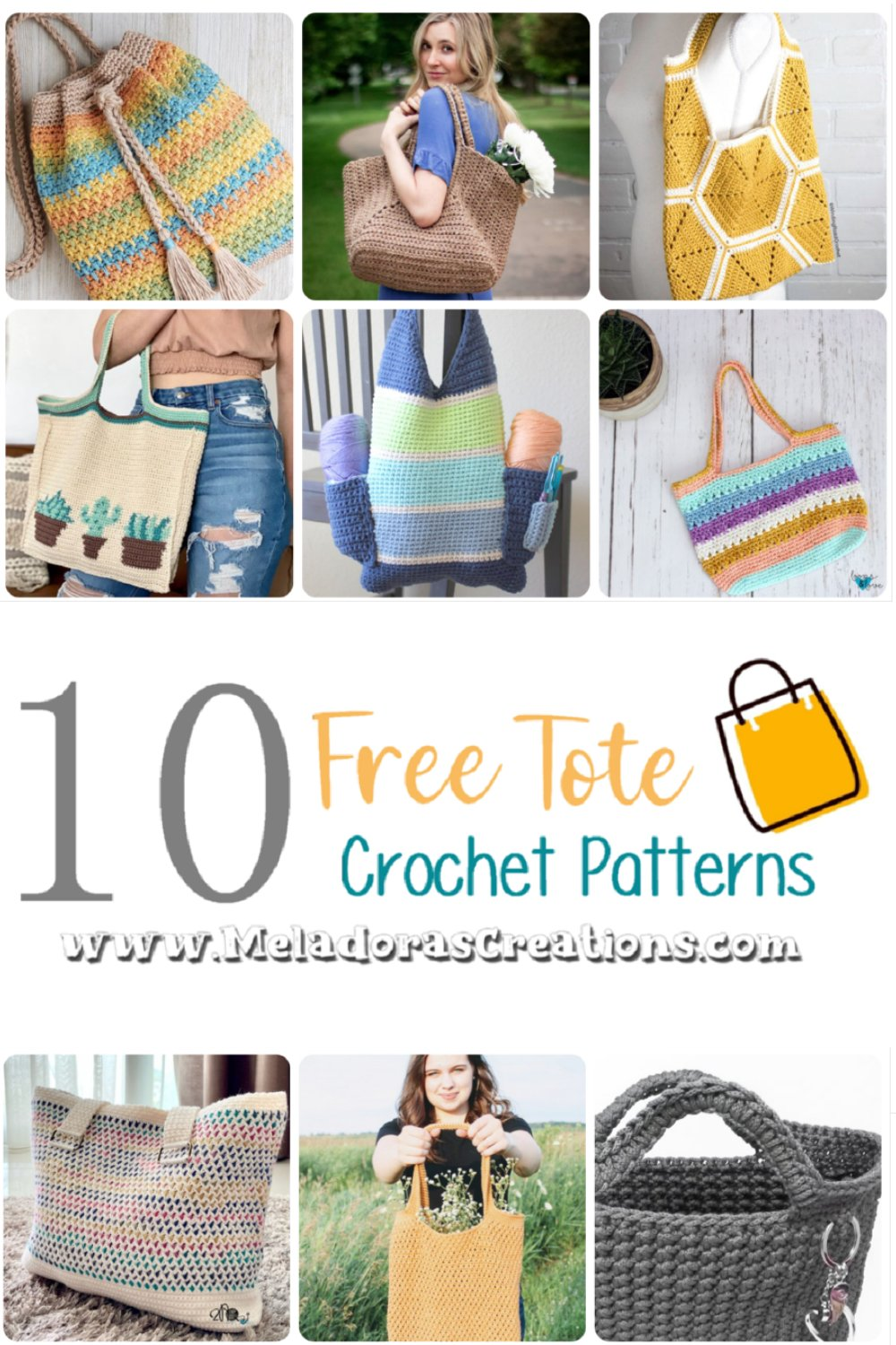 10 Free Tote Bag Crochet Pattern Round up