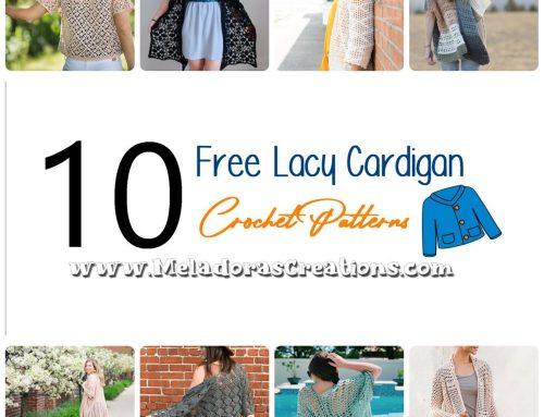 10 Free Lacy Cardigan Crochet Patterns – Crochet Link Blast