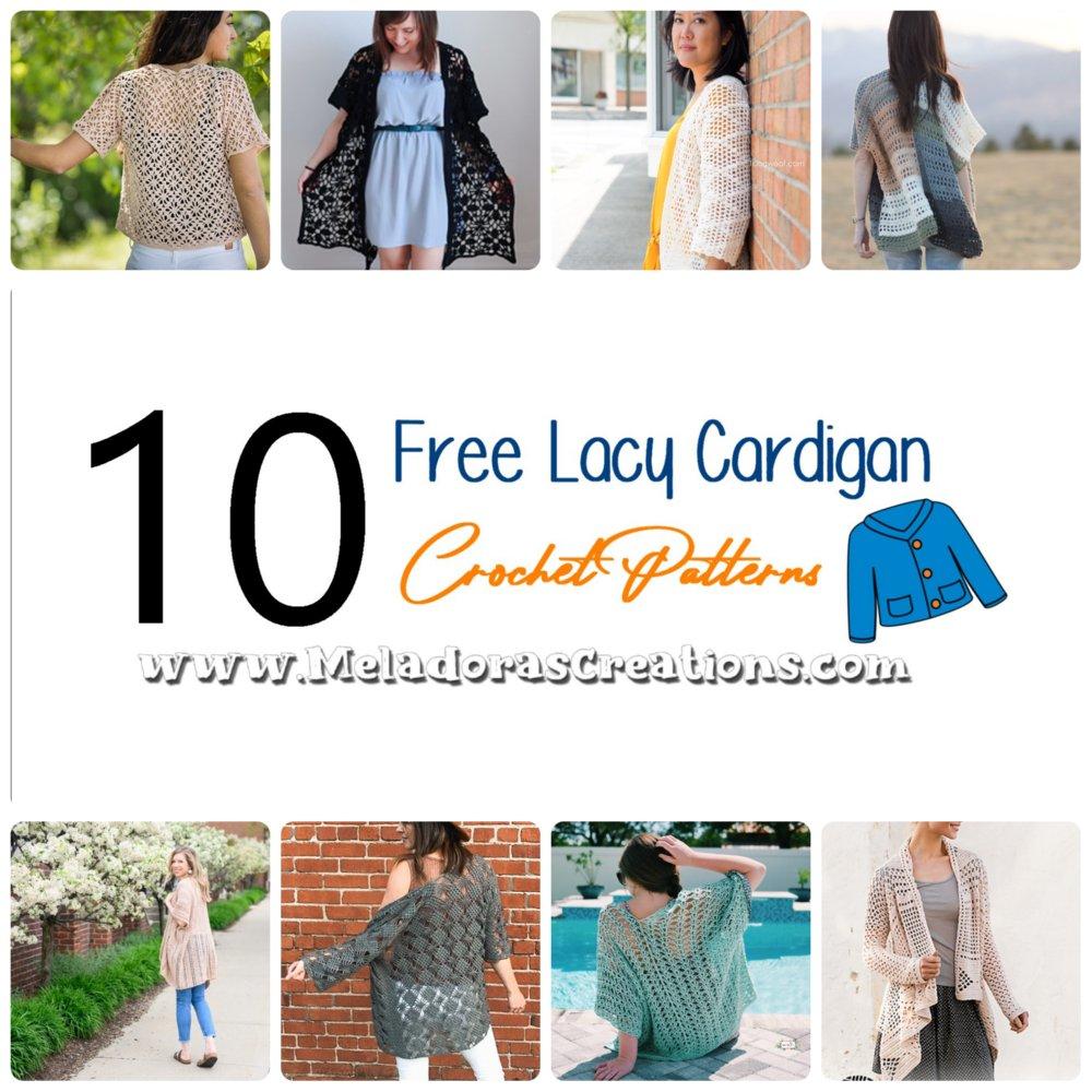 10 Free Lacy Cardigan Crochet Patterns - Crochet Link Blast