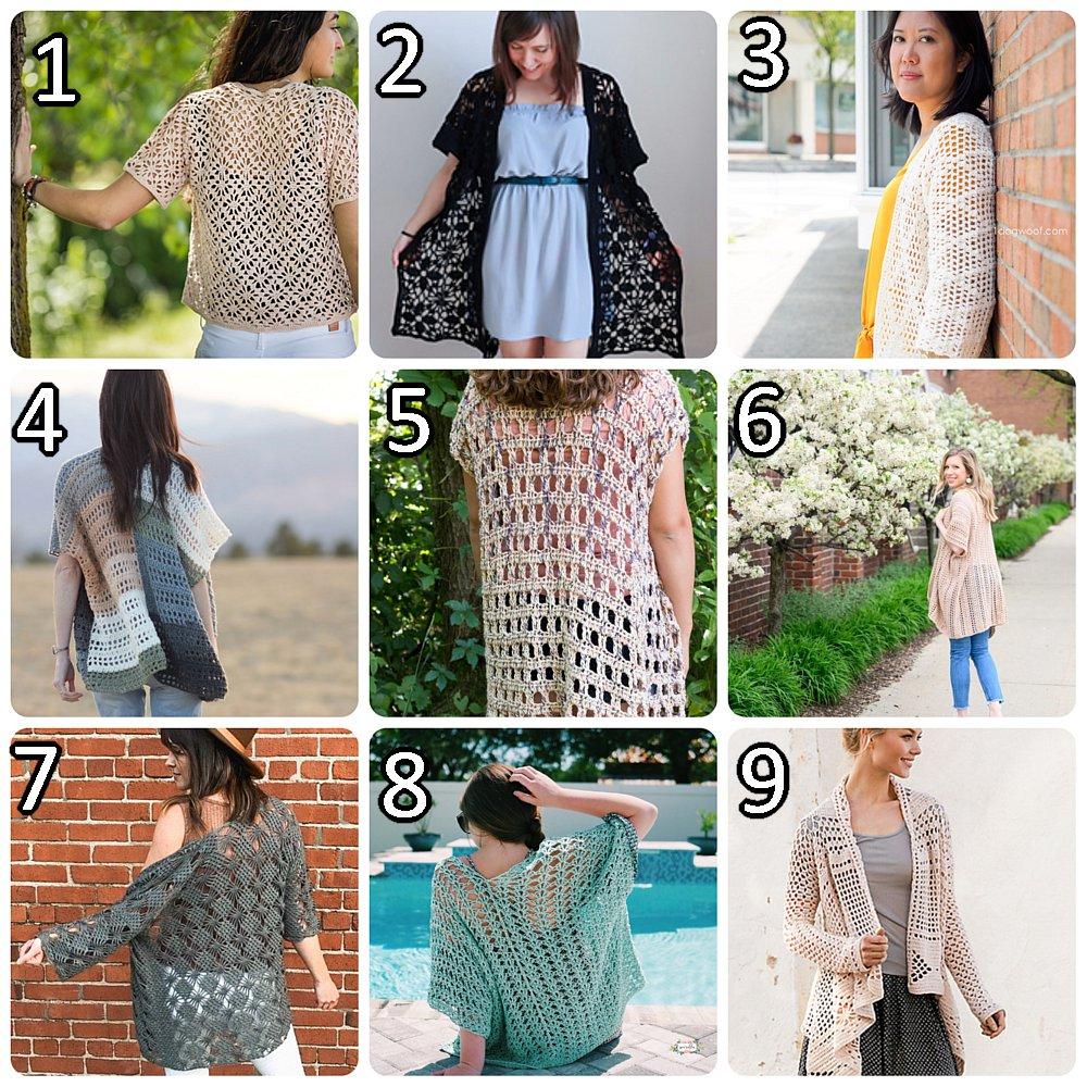 10 kostenlose Lacy Cardigan Häkelanleitungen - Crochet Link Blast