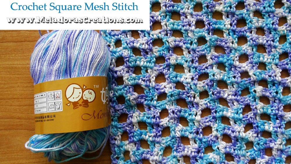 Crochet Square Mesh Stitch – Free Crochet Stitch Pattern