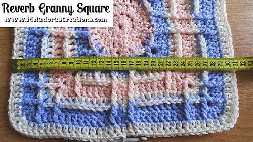 Reverb Granny Square – 12 Zoll Granny Square – Kostenlose Häkelanleitung