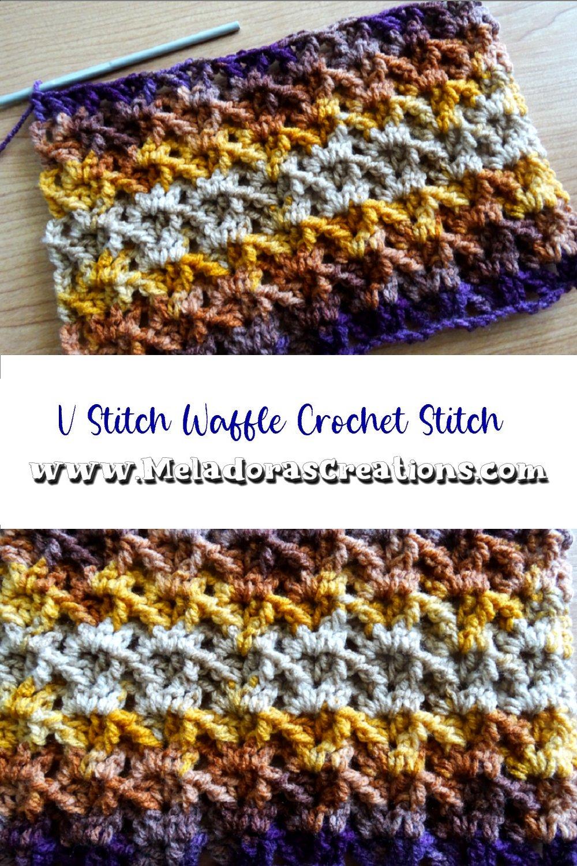 V Stitch Waffle Crochet Stitch – Free Crochet Stitch Pattern