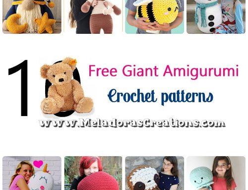 10 Free Giant Amigurumi Crochet Patterns – Crochet Pattern Round up