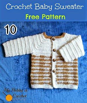 10 kostenlose Baby-Strickjacken # 2 - Häkelanleitung aufrunden